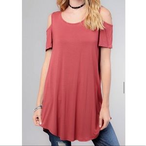 Tops - NEW Cold Shoulder Tunic Top